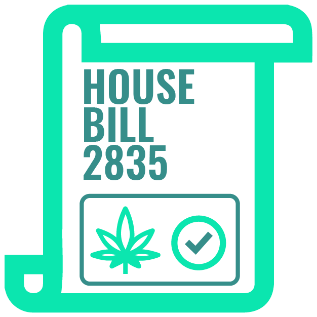 1_House Bill 2835 was used to allow anyone with a list of qualified medical conditions to use CBD oil