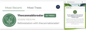 Thecannabisradar Supports #teamtreescampaign